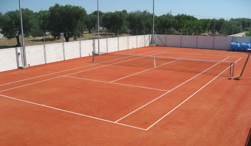 Tennis camp  and football pitches